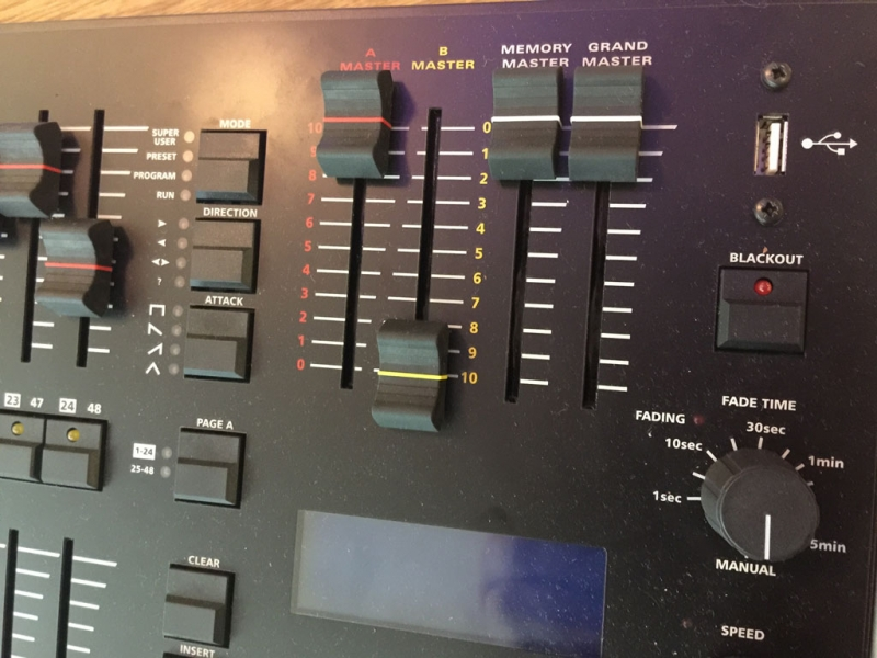 Master faders and crossfade timing