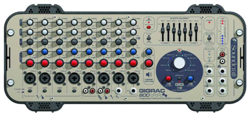 GigRac self-powered mixer